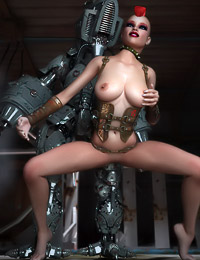 Nice dystopian warrior gets fucked by her robot protector