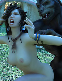 3D comic of horny humans pleasuring kinky, hairy, monstrous devils.