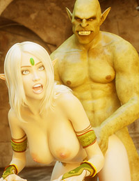 Sweet blonde elven girl gets penetrated very hard