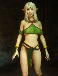 This 3D elf with large tits loves to have sex with orcs