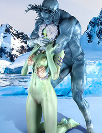 Even the coldest fantasy creatures need to warm up somehow and nothing feels hotter than winter anal